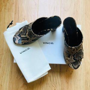 Vince Heath cross-strap mule sandal, Senegal